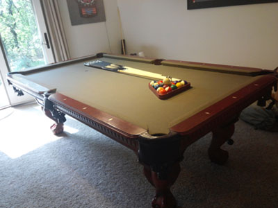 Current Auction Listing - Cannon pool table